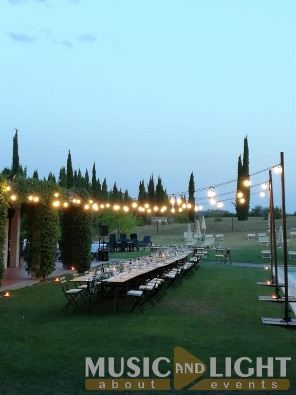 Weddin Servizi per Matrimoni in Toscana VILLA IL PALAGIO RIGNANO SULL'ARNO FIRENZE WEDDING STRING LIGHTS